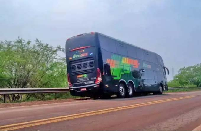 MS: Ônibus a serviço da Buser se envolve em acidente na BR-262, em Corumbá - revistadoonibus