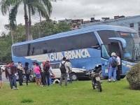 Vitória: Acidente entre ônibus da Aguia Branca e carro deixa duas pessoas feridas - revistadoonibus