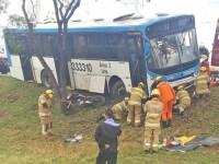 DF: Acidente entre moto e ônibus deixa uma pessoa ferida nesta manhã - revistadoonibus