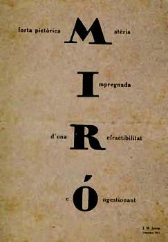 Programa de su primera exposición en 1917.