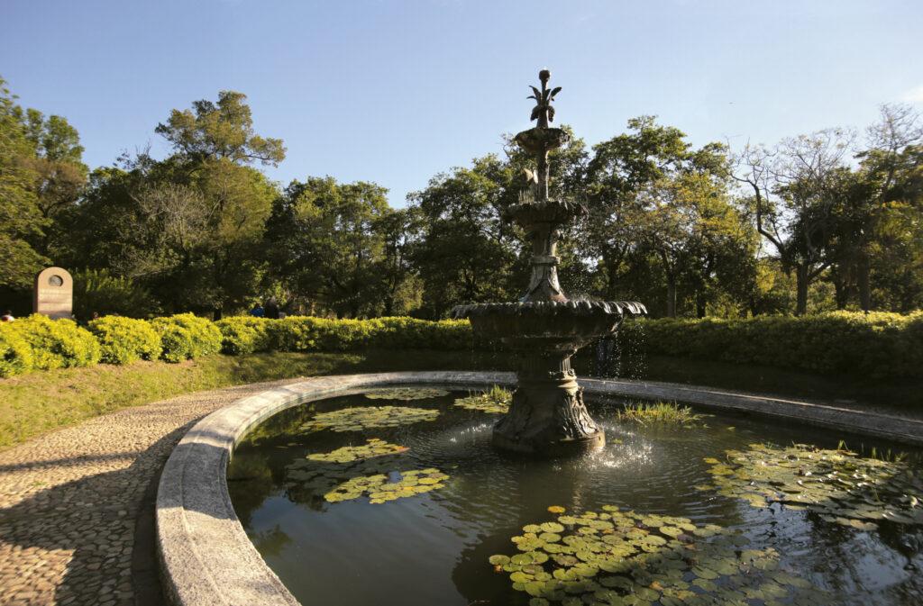 Fuente de las garzas en el Jardín botánico, foto por Celeste Carnevale