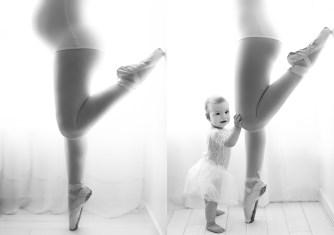 Olívia e sua mamãe bailarina