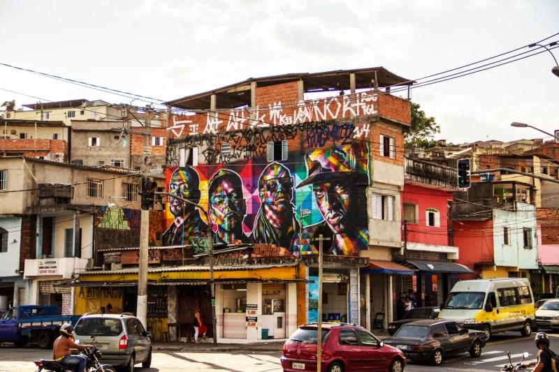 Mural Racionais no Capão redondo em São Paulo