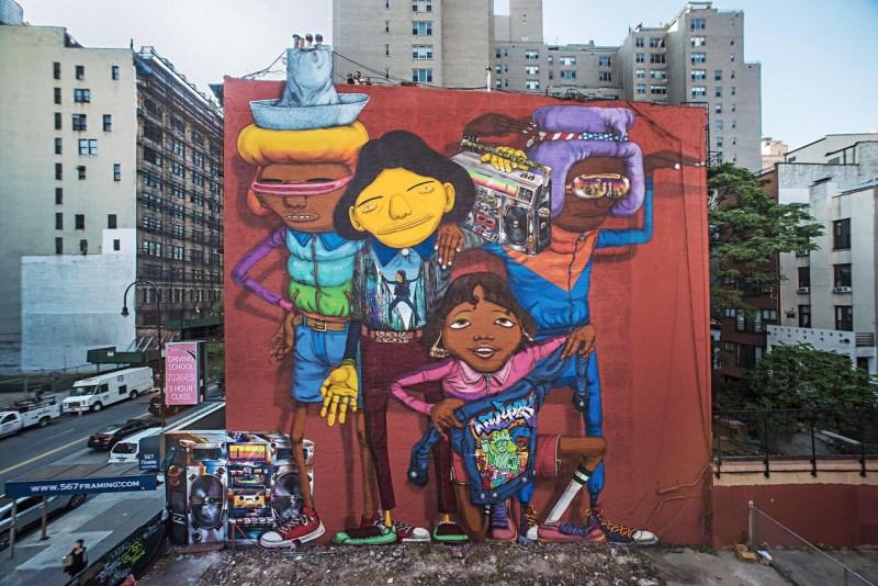 OSGEMEOS 14th Street NY, 2017 Nova York, Estados Unidos Crédito fotográfico: Martha Cooper