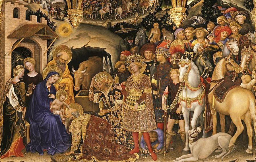 Gentile da Fabriano, Adoración del Niño, Florencia