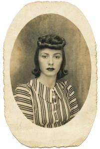 Fotografía de autordesconocido. Retrato de mujer.