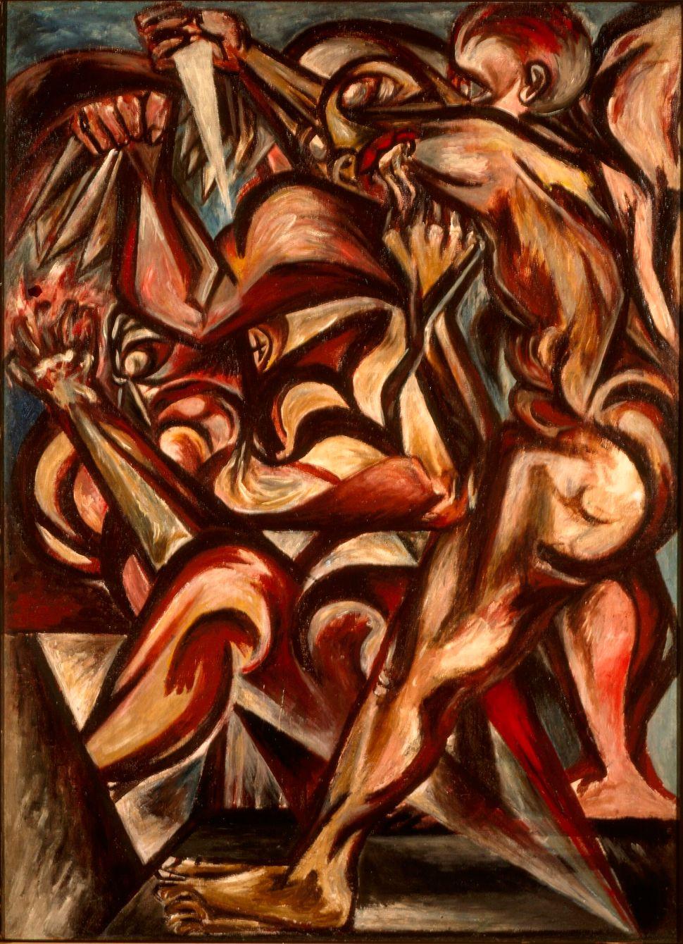Jackson Pollock, Untitled (Naked Man with Knife), c. 1938–40
