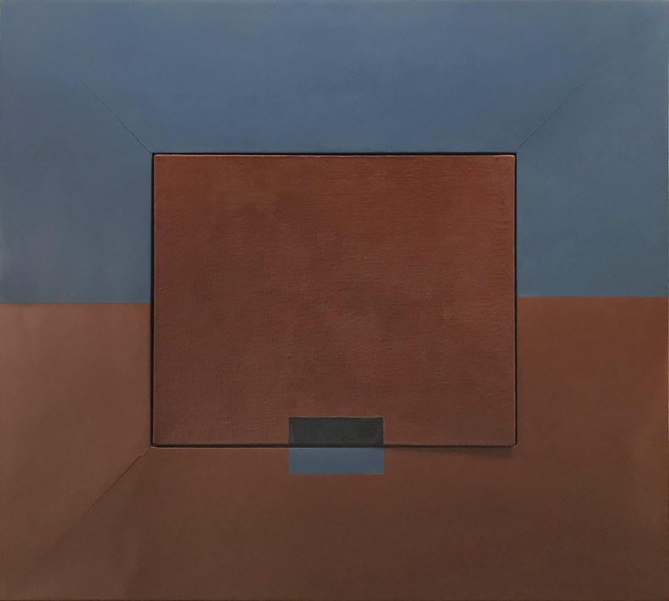 """Lygia Clark Rompiendo el marco, versión 1 (Quebra da moldura, versão 1), 1954 Óleo y madera sobre lienzo 84 x 93 cm Colección particular © Cortesía Asociación Cultural """"The World of Lygia Clark"""""""