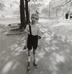 Diane Arbus. Child with toy hand grenade Central Park 1962 printed 1972 © The state of Diane Arbus