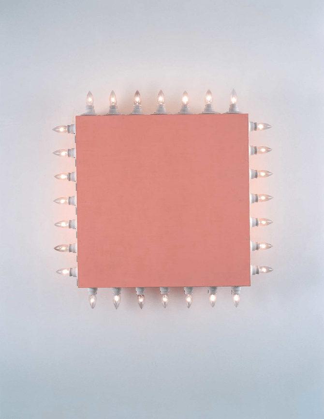 Dan Flavin icon V (Coran's Broadway Flesh´) 1962 Cortesía David Zwirner Gallery