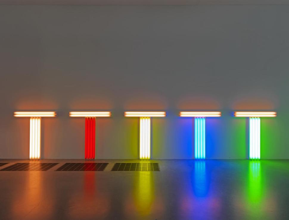 Dan Flavin Untitled (to Don Judd, colorist) 1-5 1987 Tate and National Galleries of Scotland. Lent by Artist Rooms Foundation 2013 http://www.tate.org.uk/art/work/AL00350