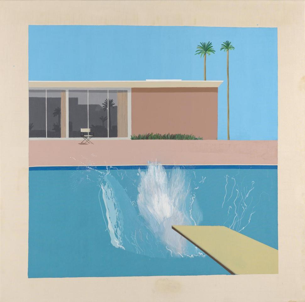 A Bigger Splash 1967 David Hockney born 1937 Purchased 1981 http://www.tate.org.uk/art/work/T03254