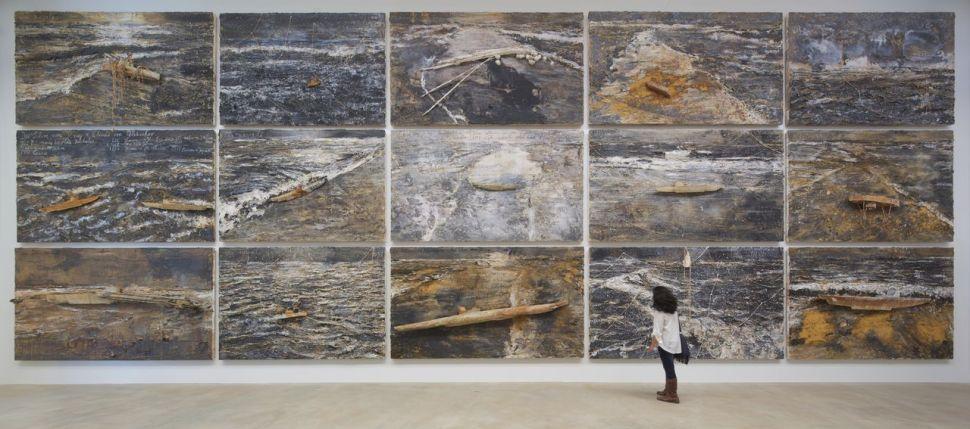 Mitad de las 30 pinturas de Anselm Kiefer que comprende la serie Velimir Chlebnikov. Foto Arthur Evans