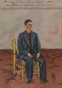 Frida Kahlo. Autorretrato con el pelo cortado. 1940.