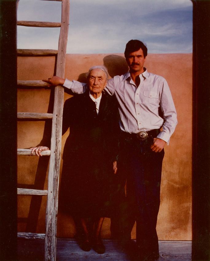 Georgia O'Keeffe y Juan Hamilton Abiquiu New Mexico circa 1980