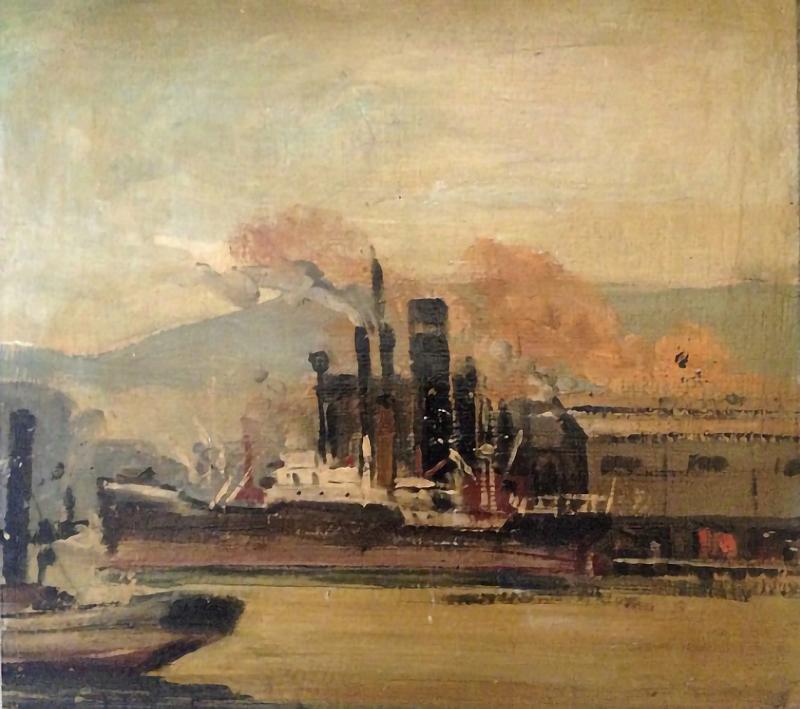 Joaquín Torres García. Puerto de barcelona. 1919.