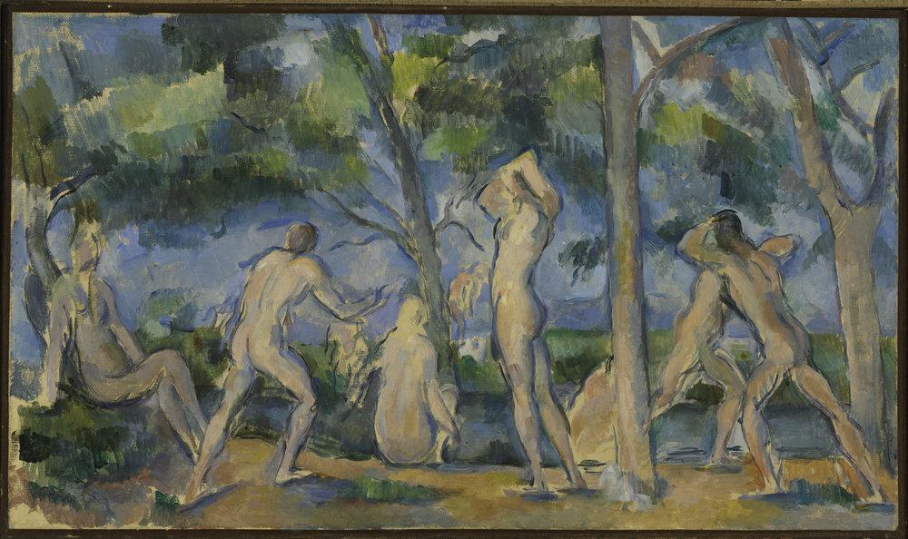 Paul Cezanne. Bathers 1904. Foto Cortesía The Baltimore Museum of Art.
