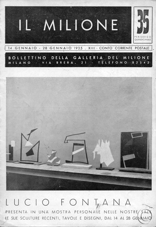 Portada de la revista Il milione no.13 1935