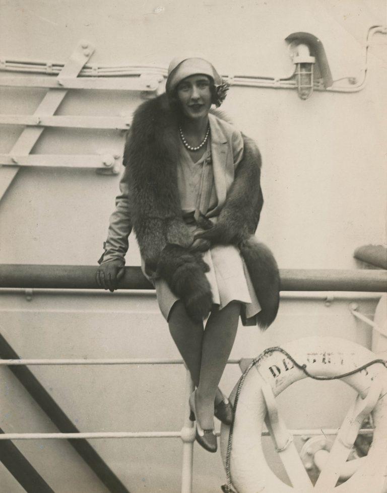 Louise, la esposa de Calder cuando la conoció en el barco, 1929
