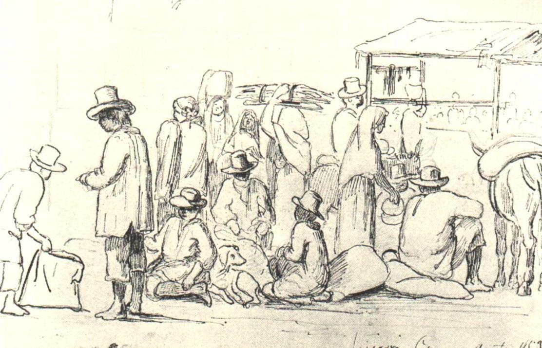 Camille Pissarro. Escenas del mercado. 1852. Galeria de Arte Nacional.