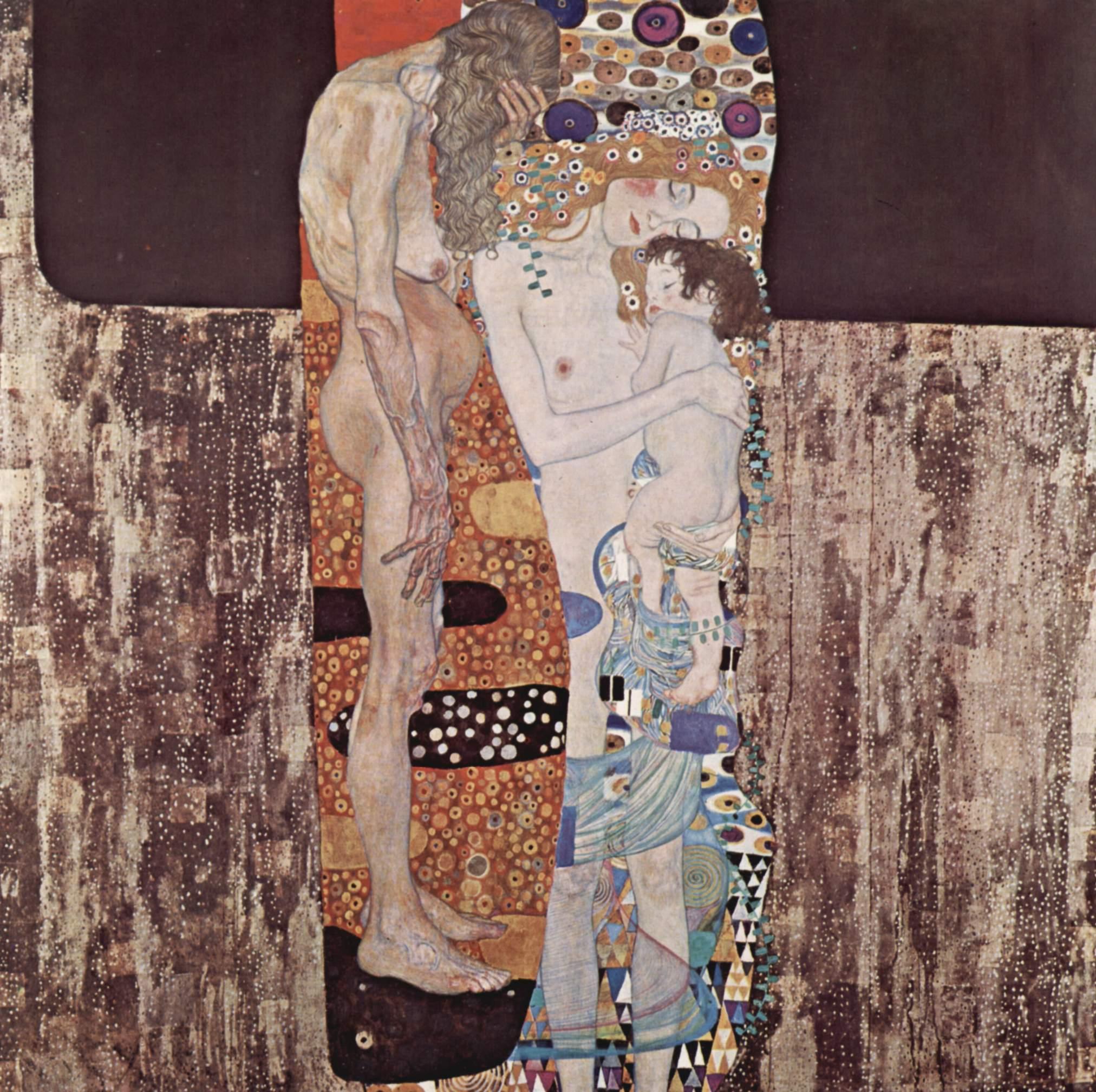 Klimt, Las tres edades de la mujer 1905