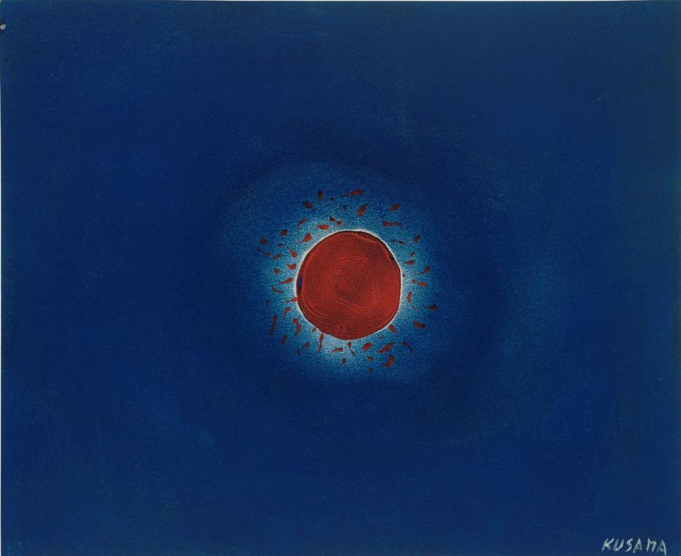 Yayoi Kusama. Sun, 1953. Cortesia de Bonhams.