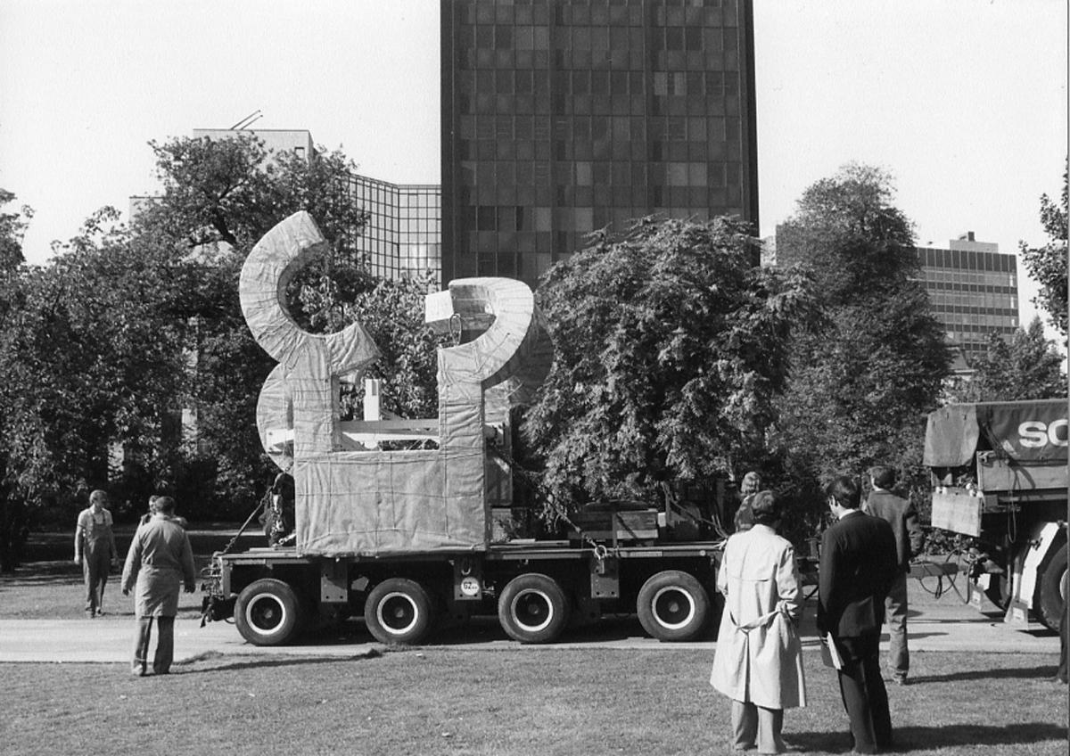 Montaje de La casa de Goethe, Frankfurt, Alemania, 1986.