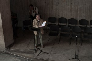 Por la libertad de los presos políticos. Centro Cultural Chacao. Marzo 2014. Foto Vasco Szinetar.