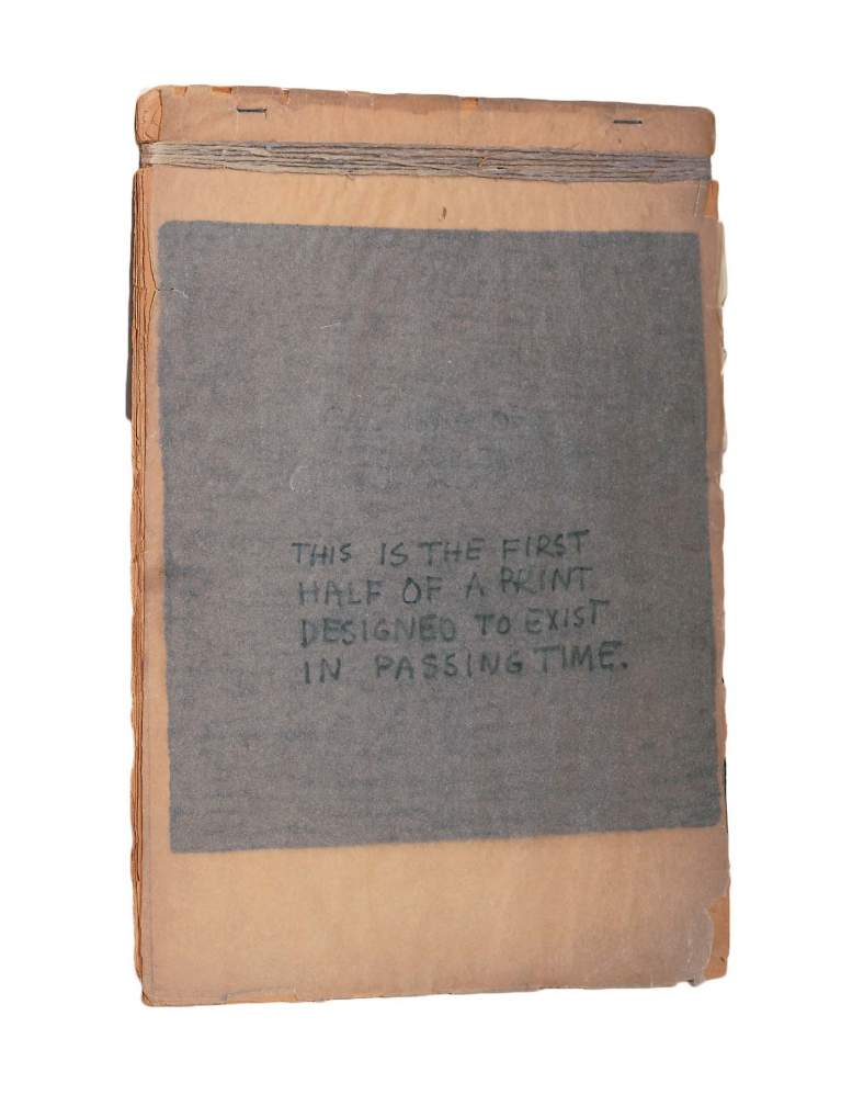 Robert Rauschenberg. This Is the First Half of a Print Designed to Exist in Passing Time (portada)
