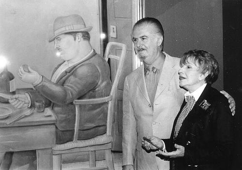 Con el artista colombiano Fernado Botero