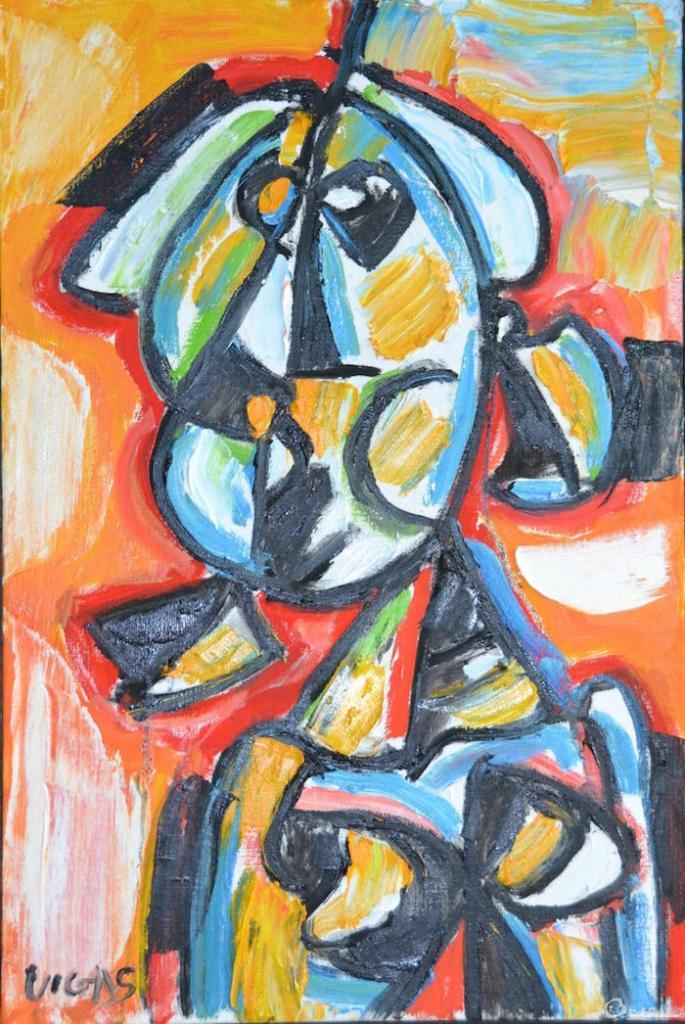 De la serie Bustos V de Oswaldo Vigas