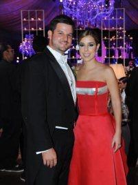 Los padrinos de honor, Francisco Javier Reyna Silva y Adriana Carolina Del Vecchio
