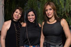 Ana Graciela Rodríguez, Blanca León y Gladys Zapiain
