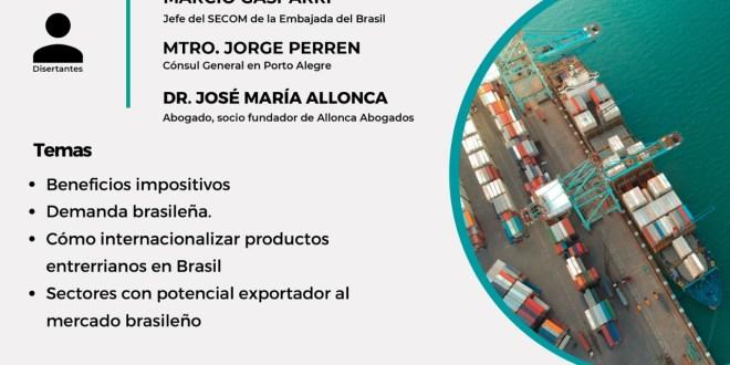 Taller: Cómo exportar productos entrerrianos a Brasil ?