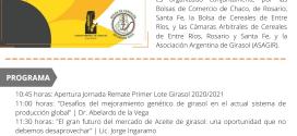 La Bolsa de Cereales de  Entre Rios los invita a participar del Remate del Primer lote de Girasol.