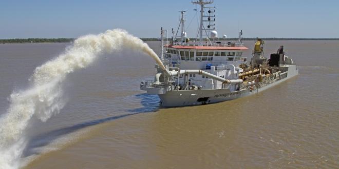 En la Argentina operará la draga más amigable con el medio ambiente del mundo.