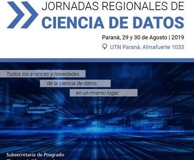 Hoy comienzan las Jornadas Regionales de Ciencias de Datos en la UTN Paraná.