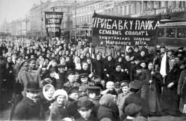 Manifestação no Dia Internacional da Mulher, Rússia, 1917