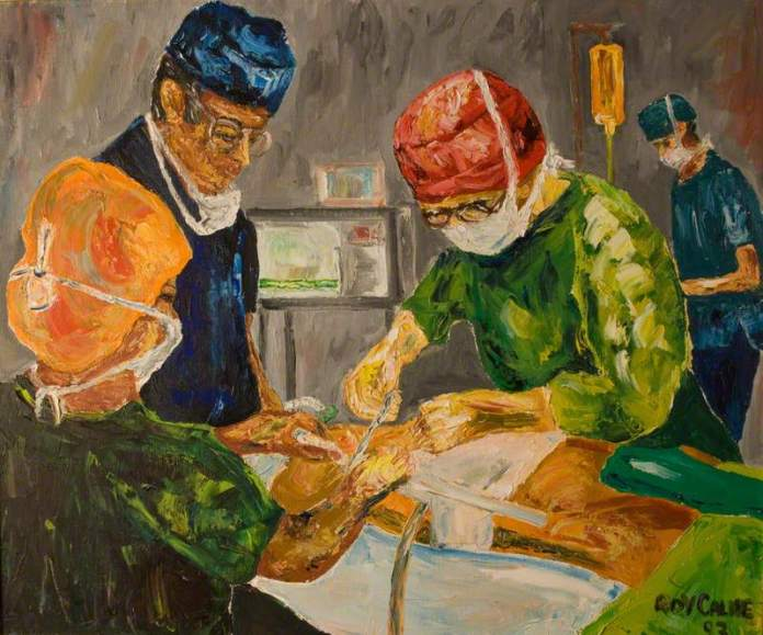 Calne, Roy Yorke; Operation Scene; The Royal College of Surgeons of England; http://www.artuk.org/artworks/operation-scene-145898