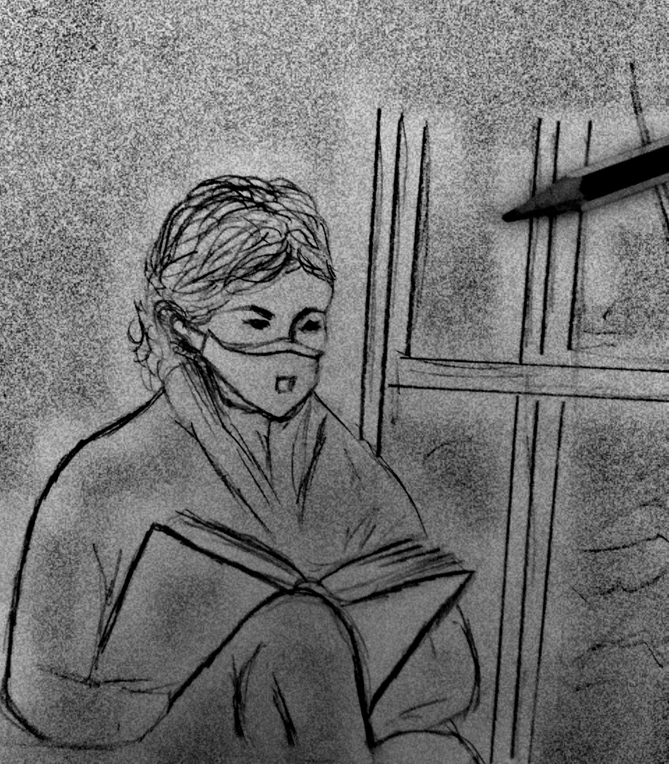 Revista Literaria Galeradas. Dibujo Carboncillo Carmen Lozano