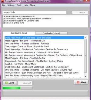 Descargar musica con GrooveDown
