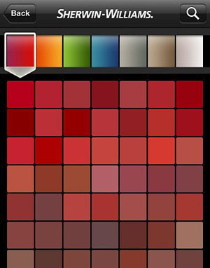 Aplicativo de cores para simular na parede da casa