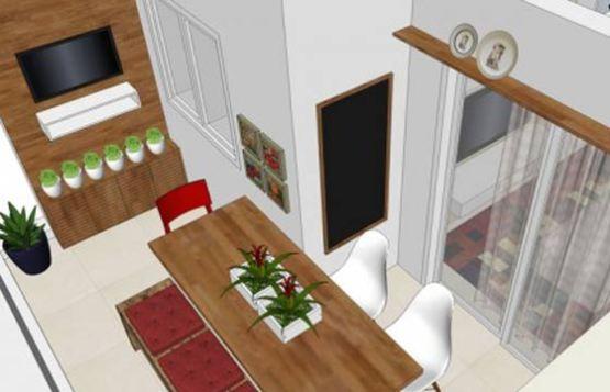 Terraço pode ficar com uma decoração descontraída com a aplicação da tinta lousa (Imagem: Natália Shinagawa / arquiteturainteriores.com)