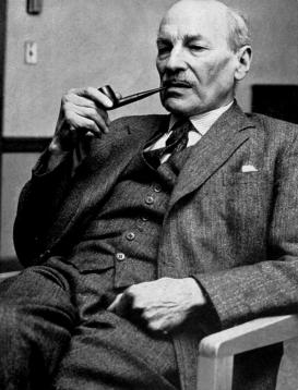 O ex-Primeiro Ministro Clement Attlee. Crédito: wikipedia.