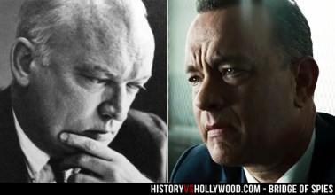 Tom Hanks interpreta o advogado James B. Donovan. Crédito: History vs Hollywood.