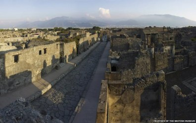 Ruínas romanas de Pompeia. Crédito: Soprintendenza Speciale per i Beni Archeologici di Napoli e Pompei /Curadores do British Museum/via BBC/Globo)