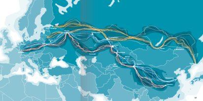 A União Econômica Eurasiática e o Cinturão Econômico da Rota da Seda: o impacto das estratégias geopolíticas sino-russas na região da Eurásia. Crédito: Eurasian Studies.