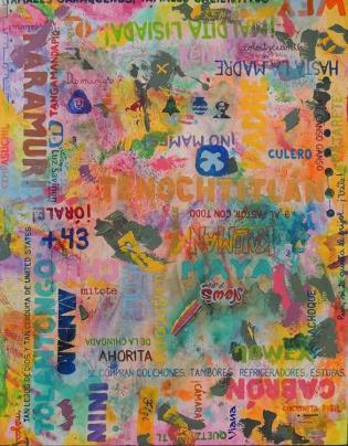 """""""México III"""" (2019) Mixed on Canvas, 1,00 x 1,30m. Crédito: arquivo Hélio Vianna."""