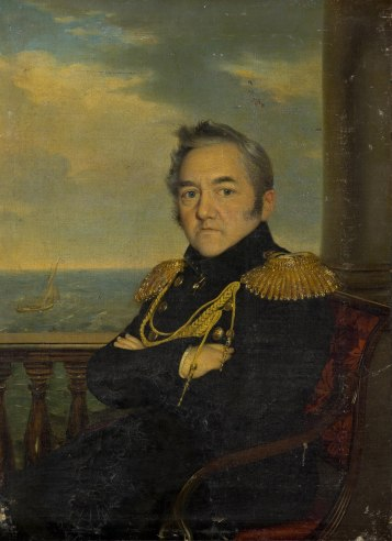 O almirante Mihail Petrovitch Lazarev, navegador e explorador russo. Ele integrou a expedição imperial mundial russa, comandada pelo almirante Bellingshausen, que descobriu o continente antártico. Crédito: https://www.wikidata.org/