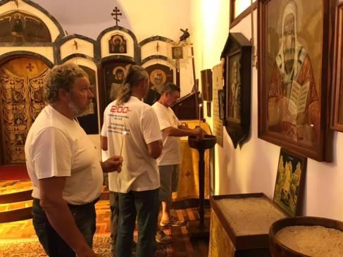 Encontro com brasileiros e a comunidade russa do Rio na Igreja Ortodoxa Russa de Sta. Mártir Zenaide, em Santa Teresa. Crédito: Artem Fomin.